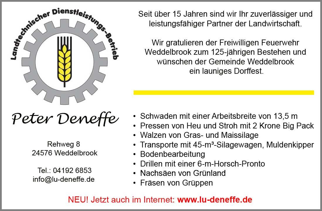 Peter Deneffe - Inserat in der Umschau vom 25.06.2014